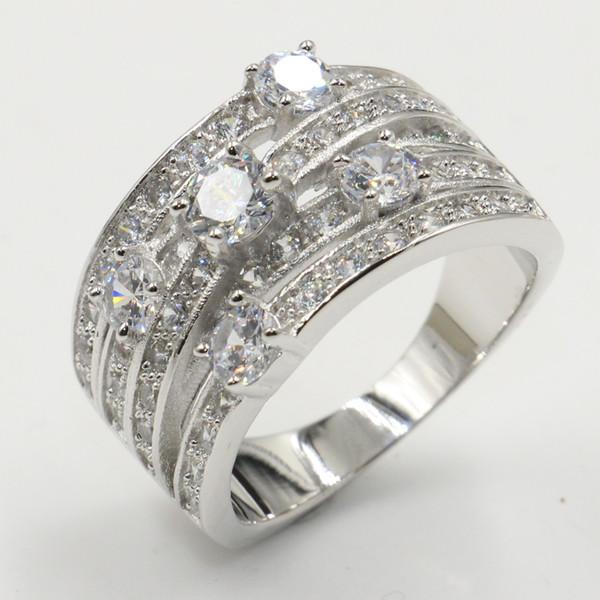 USA vendeur éternité Zircone Cubique Anneau Argent Sterling 925 BEST DEAL Bijoux Taille 4