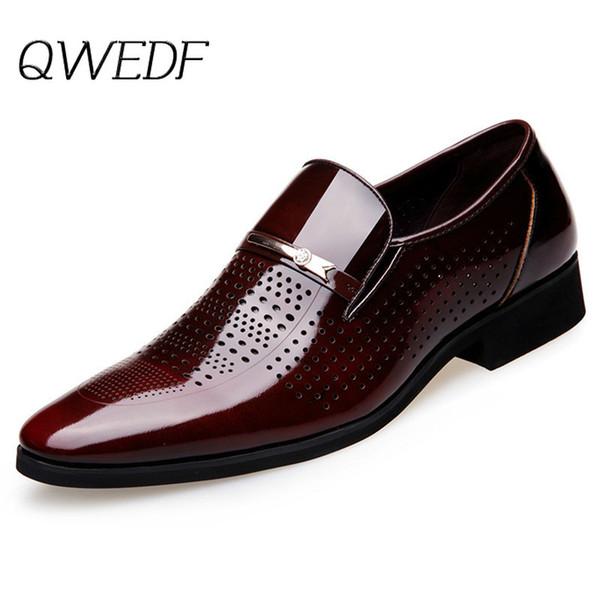 2019 лето осень острым носом мужские платья обувь дышащая черный Свадебная обувь официально костюм офиса Человек кожаной обуви K6-17