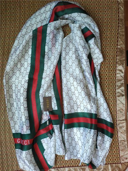 Banda della lettera della sciarpa della sciarpa chiffon delle nuove donne di lusso avvolta nello scialle chiffon 180 * 90cm dello scialle delle donne trasporto libero