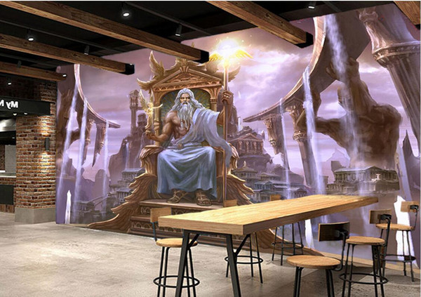 3d Wallpaper On The Wall Custom Photo Western Greek Mythology Temple Of Zeus Living Room Home Decor 3d Wall Murals Wallpaper For Walls 3 D Wallpapers