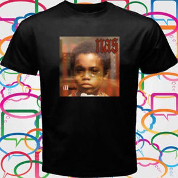 Nas Illmatic Album Cover Rap Hip Hop Men 039 s BlaCustom T Shirt Size S to 3XL