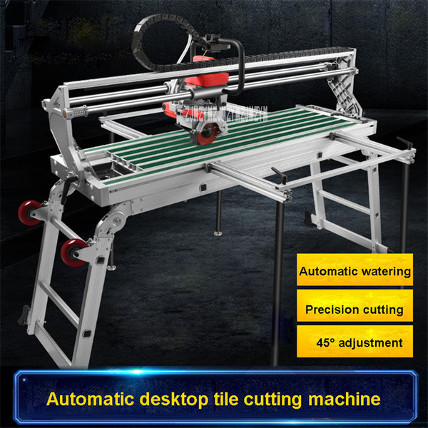 top popular Electric Multi-function Fully Automatic Desktop Tile Cutting Machine 45 Degree Chamfering Machine 220V 2300W 1000MM 13000r min 2020