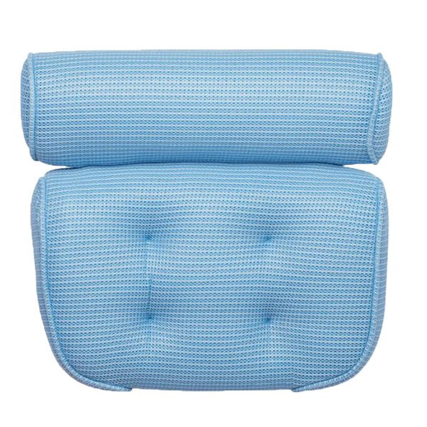 top popular Suction Up Bath Tub Pillow Spa Cushion Neck Shoulder Relaxation Massage Blue 2021