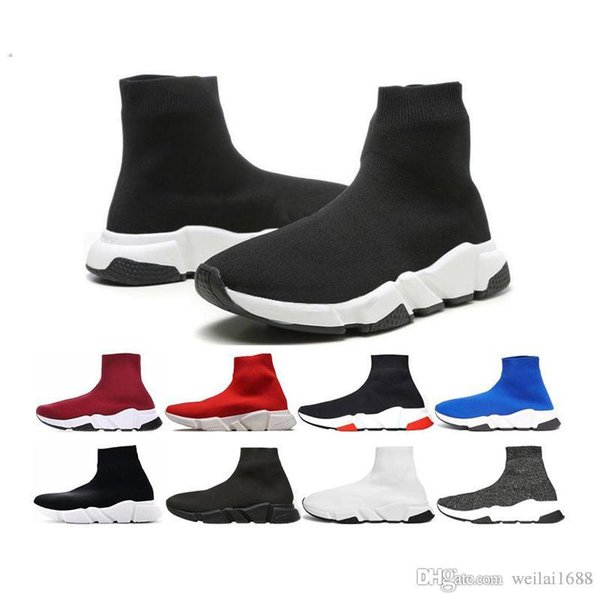 2018 New High Quality Luxury Sock Shoe Speed Trainer Running Sneakers Speed Trainer Sock fashion luxury mens women designer sandals shoes