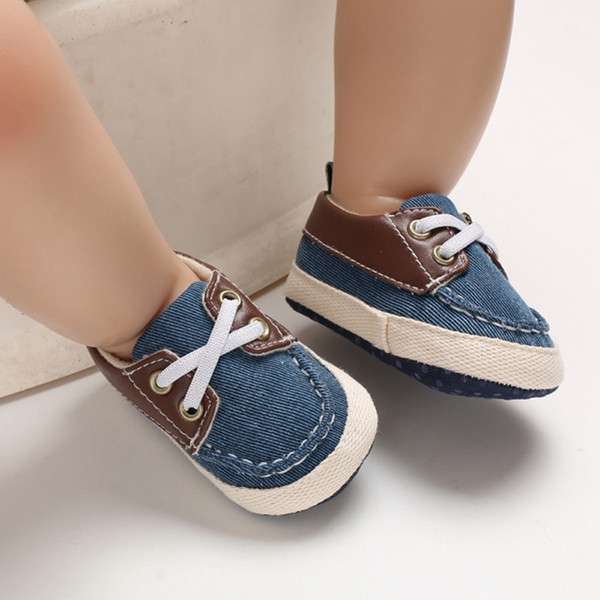 2019 Cute Kids Infant Shoes Baby Boys Breathable Anti-Slip Shoes Sneakers Soft Soled Walking