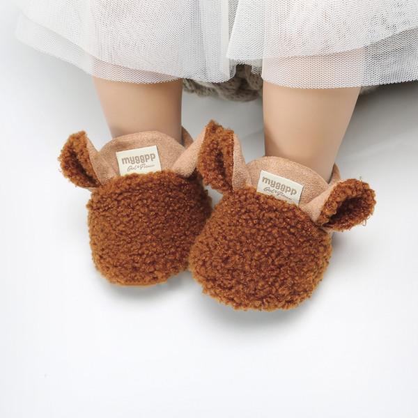 Acheter Hiver Chaussures De Bébé Épaissir Chaud Dessin Animé De Mode Bébé Fille Chaussures Premiers Marcheurs Doux Garçons Filles Prewalker De $39.55