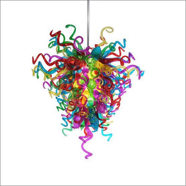 Dale Chihuly Style lampadari di Murano disegno della parte superiore colorata a mano in vetro soffiato grande lampadario di Soggiorno Decoration
