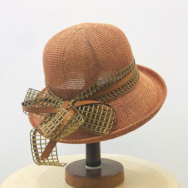 5pcs/lot 01904-xu-japan lace bowknot Breathable and elegant shade leisure lady bucket hat women fishmen cap wholesale