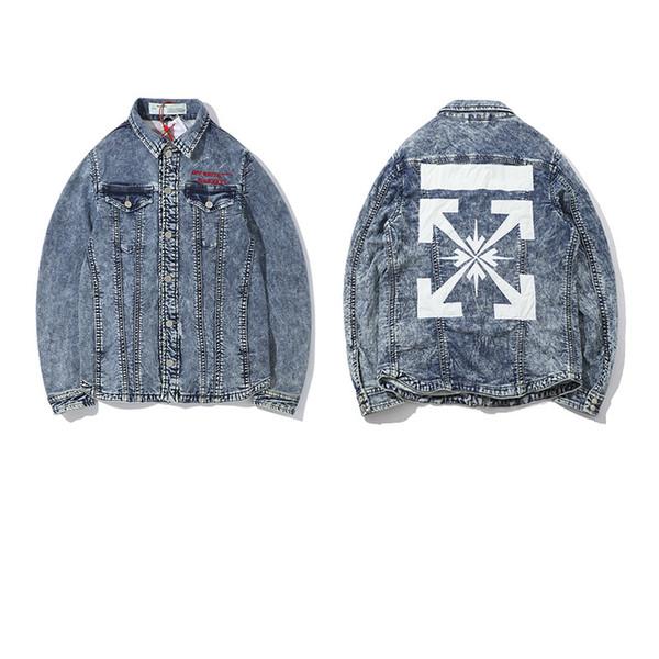 Neueste Ankunft Mens Jeans Marke Designer Denim Jacken Kleidung Brief Stickerei Männer Frauen Winter Elastische Denim Mantel Streetwear Kleidung