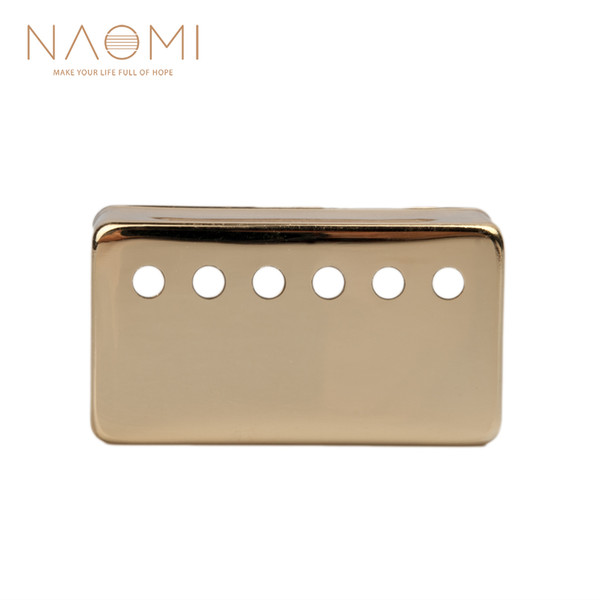 best selling NAOMI Metal Humbucker Pickup Cover 50mm For LP Style Electric Guitar Parts & Accessories Golden Color New