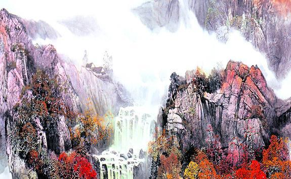 Atmospheric landscape Chinese paintings have a long history of Chinese TV background wall