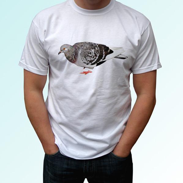 Pigeon white t shirt animal tee top bird design - mens womens kids baby sizes Funny free shipping Unisex Casual tshirt