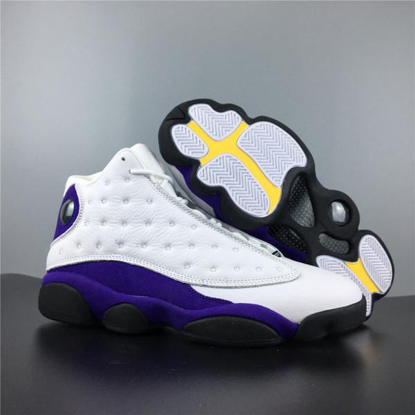 6689d7bac544 2019 Lakers Rivaux Baskets 13s Réel En Fiber De Carbone Designer Top Cuir  Hommes Sneaker De Sports De Plein Air Avec Shoebox