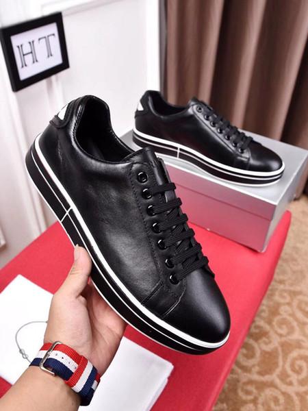 Designer Fashion Luxury 2018 Brand Herren Schuhe Snake Print für Love Sneakers Low Top Schwarz und Weiß Leder Herren Freizeitschuhe PRD 38-44 ht 15