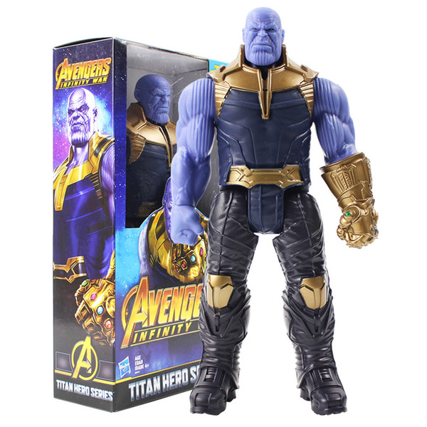 Titan Hero Series Marvel Avengers 3 Infinity War Thanos Action Figure Toy Pvc Collectible Model Toys For Children Q190429