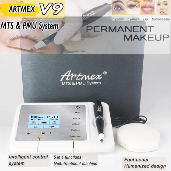 2018 nouvelle arrivée Artmex V9 kits de maquillage permanent Pro machine de tatouage numérique ensemble Eye Brow Lip Rotary Pen MTS système pistolet de tatouage