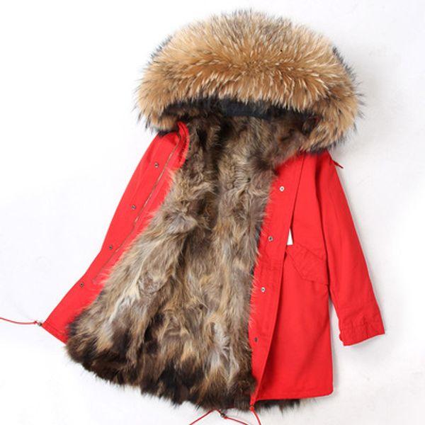 Red naturel fur