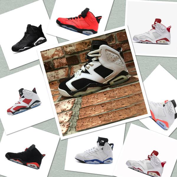 2019 moda J6 erkek Carmine Için Kızılötesi Alternatif basketbol ayakkabı Classics erkekler için 6 VI hava spor boot boyutu US7-13