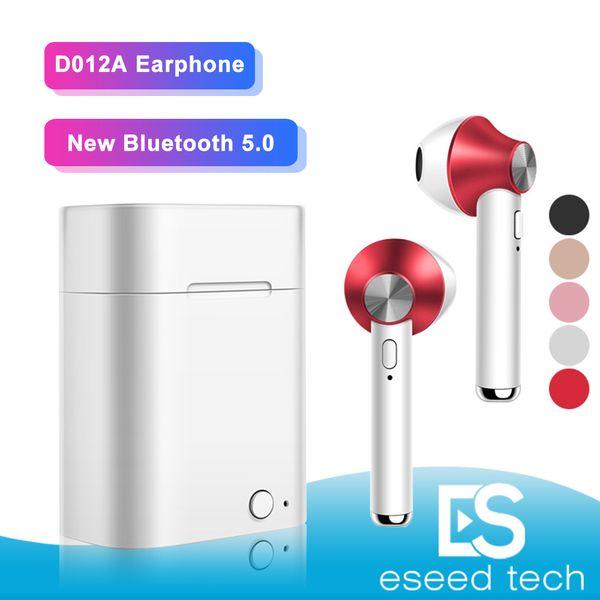 D012A Tws Mini Auriculares Auriculares Bluetooth Auriculares Inalámbricos Auriculares Bass PK i9s Para Samsung Xiaomi iPhone