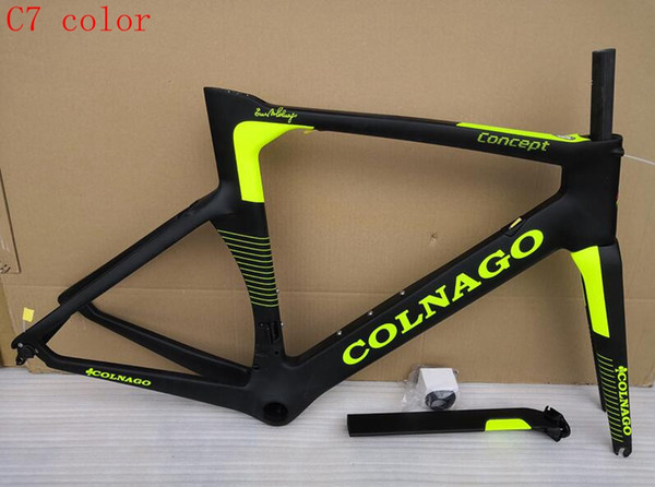 2019 NEW colnago concept T1000 UD carbon full carbon road bike frame racing bicycle frameset white black color,sell wheels