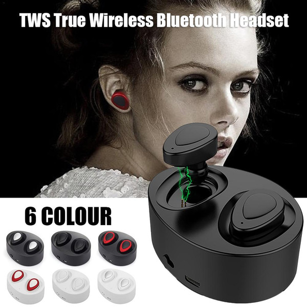 TWS K2 Bluetooth Earphone 6 colors Outdoor Headphone Sports Headset Mini Wireless Stereo Earbuds With Charging Socket For iPhone Android