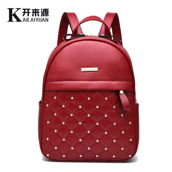 Оптово-рюкзак женская сумка 2019 новые модные женщины Joker простой рюкзак новый досуг студент моды корейской версии