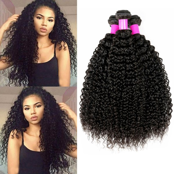 Musi 8A Cheap Brazilian virgin hair bundles deals afro kinkys curly human hair extensions Weave Full Head For black women