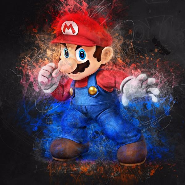 Super Mario Memory Enfance Home Decor Artisanats / HD huile d'impression Peinture Sur Toile Art mur toile Photos 200122