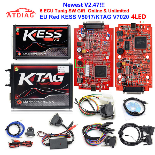 4 Gifts New RED KESS V2 V5.017 EU Master Online 100/% No Tokens Free Ship DHL