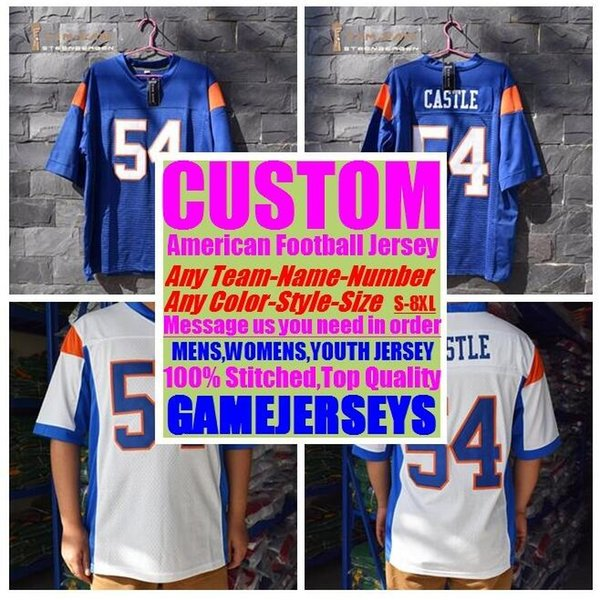 best selling Custom american football jerseys college cheap authentic game elite sports jersey stitched mens womens youth kids 4xl 5xl 6xl 7xl 8xl shirt