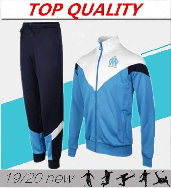 men 2020 Olympique de Marseille tracksuit soccer jacket Maillot De Foot 19/20 PAYET THAUVIN OM Football jacket jogging tracksuit chandal