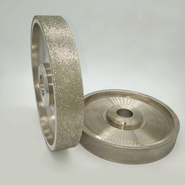 top popular 80 180 240 600 800 1000 Grit Diamond Grinding Wheels Diameter 6 inch 150mm High Speed Steel For Metal stone Grinding Power Tool 2021