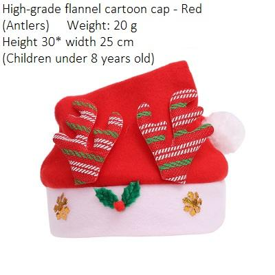 Child Flannel Antlers Red