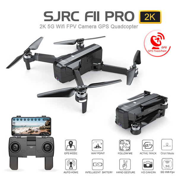 best selling SJRC F11 PRO GPS Drone With Wifi FPV 1080P 2K HD Camera Brushless Quadcopter 25 minutes Flight Time Foldable Dron Vs SG906