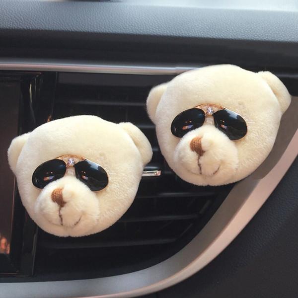 Car Cute Funny Bear Air Outlet New Fragrant Perfume Clip Flower Air Freshener Diffuser 2018#5
