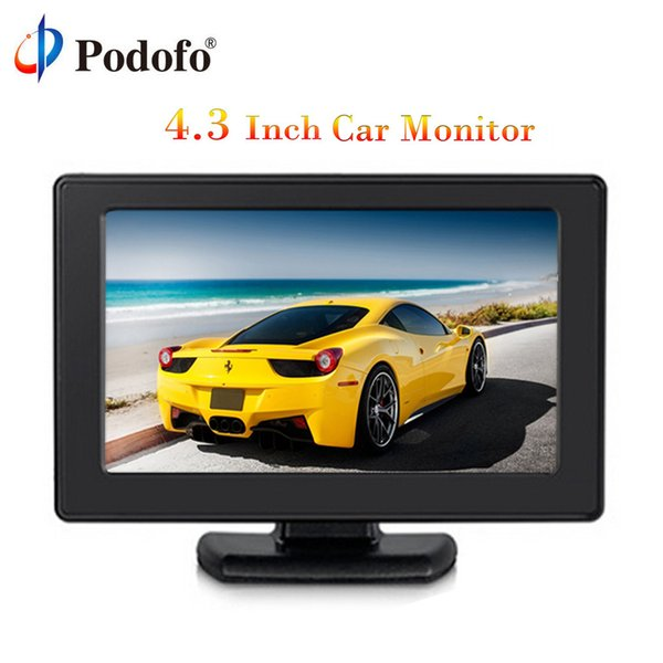"Podofo 4.3"" Color TFT LCD Monitor 8 High Resolution 2-Channel Video Input Display Monitor Screen For DVD VCD Security"
