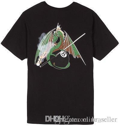 Nouveau Design T-shirt Hommes Marque Vêtements Fashion Flying Dragon Imprimé T Shirt Homme Top Qualité 100% Coton Casual Tees