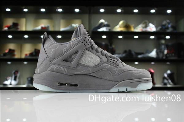 With box Denim 4s Men Basketball shoes Women Sneakers Black ls Denims Jeans High quality outdoor Mens Sports Trainers c03