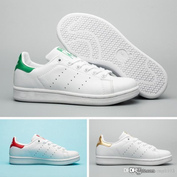 New Summer Fashion smith Sneakers women men Casual shoes leather sport classic Top quality Female Flat Shoes Lovers Sapatos Femininos shoes