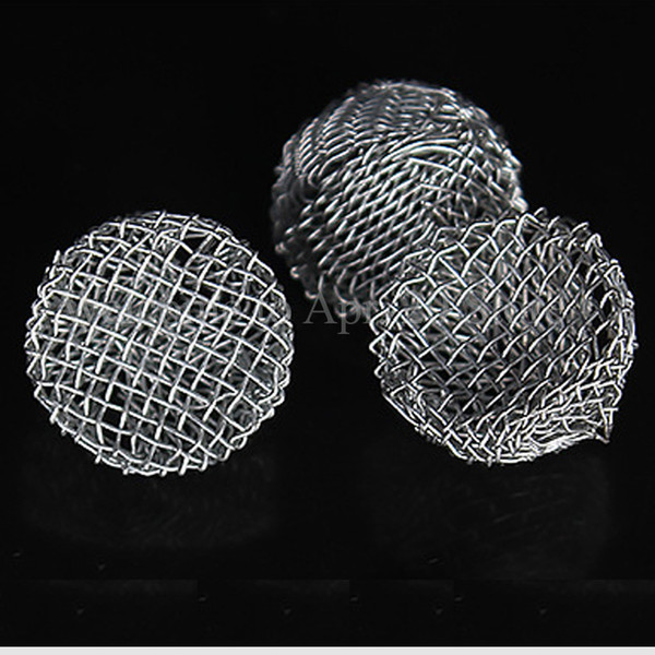 Silver-Tabacco Smoking Pipe Metal Screen Filter Percolator Leach Net Ball-in Pipes Smoke Tobacco Pipe Mesh Net Filter MP054