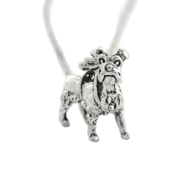 Boho Metal Schnauzer Dog Pendant Necklace Accessories Love Chain Male Friends Necklaces For Women Men Collier Femme Colar