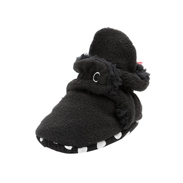 LONSANT Infant Baby Kids crib shoes Cotton Buckle Strap Shoes Cozy Booties Soft Sole Solid Non slip Bottom boys girls