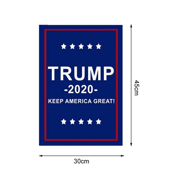 Трамп Сад Флаги Президент Общие Выборы Баннер 2020 Трамп Флаг Полиэстер Ткань Пластиковые Флагшток Вымпел Баннер Флаги 30 * 45 см