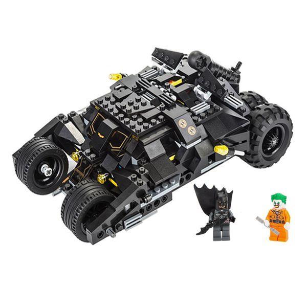7105 Batman char moto casse-tête jouet voiture de montage pour enfants