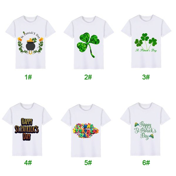 3-8Y Boys and Girls T-Shirt St. Patrick's Day Children's Short Sleeve Fashion Cute Print T-Shirt Top Baby Children's Wear MMA1474