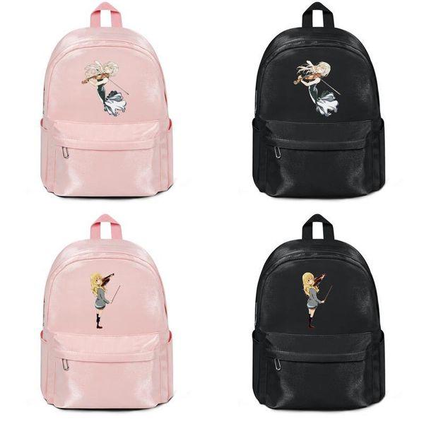 Ihre Liege im April Blütenblatt Violine Rock Hersteller verkaufen Designer-Rucksack Handtaschen Umhängetaschen Mens Womens Nylon Lightweight Travel