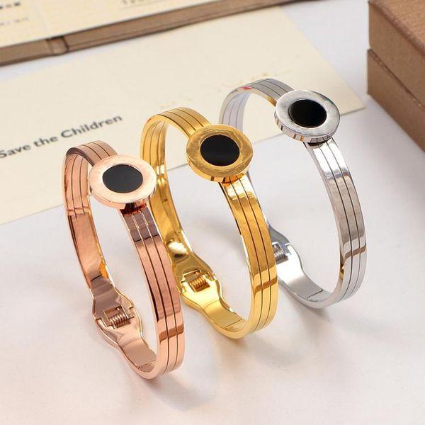 Cool Watch Belt Titanium Steel Bracelets silver rose gold Bangles Women Men Bracelet with original box set