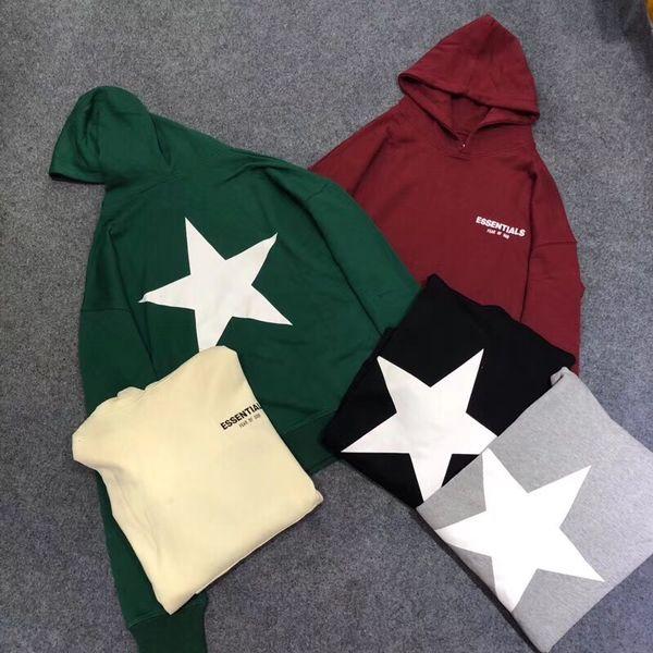 Spring 2019FW Designer Hoodies Mens FOG Essentials Hooded Sweatshirts Hooded Pullovers Oversize Casual Thin Hoodie