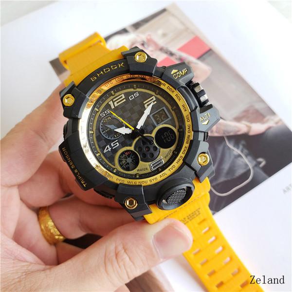 Relojes deportivos Relojes militares para hombre Reloj de pulsera de caucho de alta calidad Relojes a prueba de golpes Caminatas a prueba de agua al aire libre