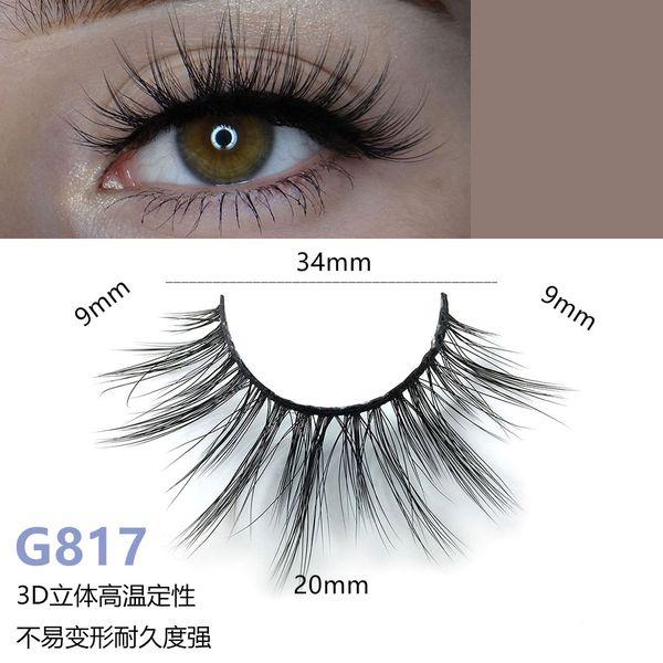5 pares / set False EyeLashes 5 pares 3D pestañas falsas largas naturales G817 herramientas de maquillaje hechas a mano accesorios reutilizables extensión Lash